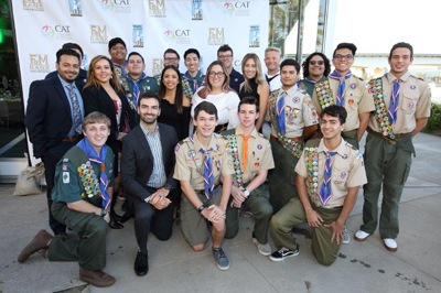 CRC members pose with a group of Boy Scouts in Long Beach