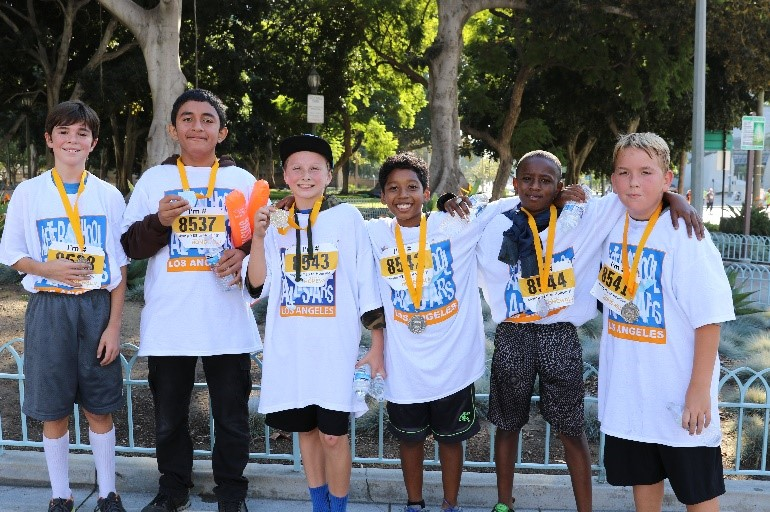 Photo of six students part of After-School All-Stars, Los Angeles